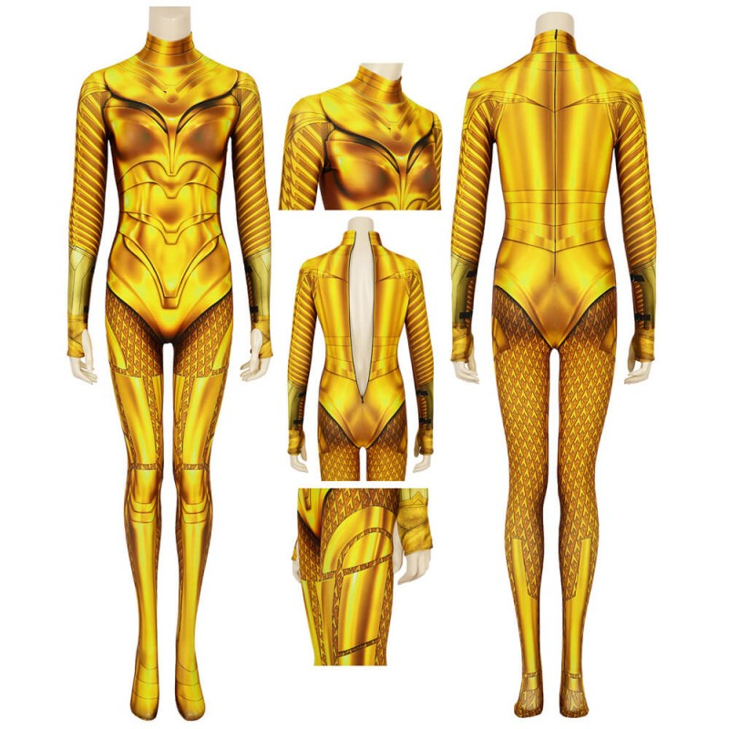 Wonder Woman 1984 Diana Prince Golden Cosplay Jumpsuit