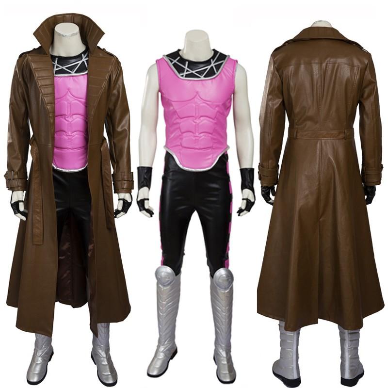 X-men Gambit Remy Etienne LeBeau Cosplay Costume