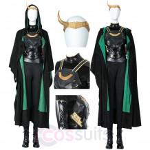 2021 Female Loki Costume Lady Loki Sylvie Lushton Cosplay Suit