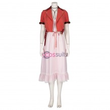 Aerith Cosplay Costume Final Fantasy VII Remake Cosplay Red Suit