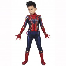 Avengers: Endgame Iron Spiderman Peter Parker Cosplay Jumpsuit For Kids