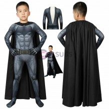 Batman Kids Suits Justice League Batman Cosplay Costume With Cape Halloween Costumes