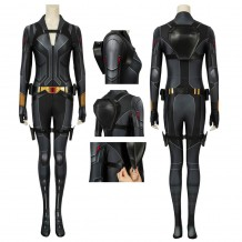 Black Widow Natasha Romanoff Black Cosplay Jumpsuit