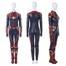 2019 Captain Marvel Carol Danvers Cosplay Costume Red Version