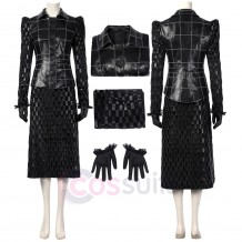Cruella 2021 Black Costume Cruella De Vil Cosplay Suit