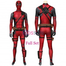 Deadpool Cosplay Costume 40D Polyester Wade Wilson Cosplay Suit