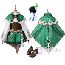 Genshin Impact Venti Cosplay Costumes Venti Cosplay Suit