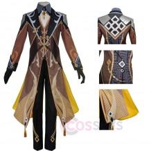 Genshin Impact Zhongli Cosplay Costumes Zhongli Cosplay Suit