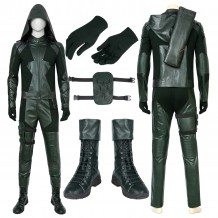 Green Arrow Suits Season 8 Oliver Queen Cosplay Costume