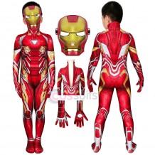 Iron Man Kids Costume Avengers Endgame Iron Man Tony Stark Nanotech Suit For Halloween