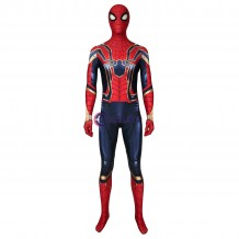 Iron Spiderman Jumpsuit Avengers: Endgame Peter Parker Cosplay Costume
