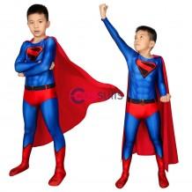 Kids Superman Cosplay Costume Crisis On Infinite Earths Kal-El Clark Kent Halloween Gifts