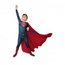 Man Of Steel Superman Clark Kent Cosplay Jumpsuit For Kids
