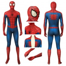 Marvel Spider-Man Classic Suit Peter Parker Cosplay Costume