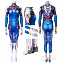 Overwatch OW D.Va DVa Hana Song Cosplay Costume