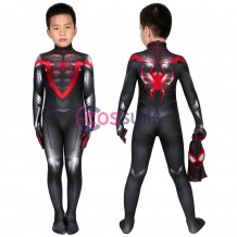 Spider-man Kids Costume Spiderman Miles Morales PS5 Cosplay Suits Halloween Costumes