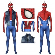 PS4 Spiderman Punk Suit Spider-Man Cosplay Costume