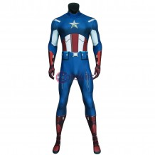 The Avengers Captain America Jumpsuit Steven Rogers Costume