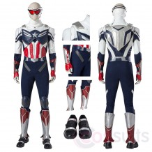 The Falcon Sam Wilson Cosplay Costumes Captain America Cosplay Suit