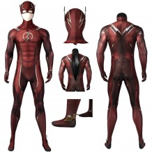 The Flash Injustice 2 Spandex Printed Cosplay Costume