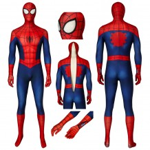 Ultimate Spiderman Peter Parker Jumpsuit Cosplay Costume