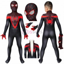 Ultimate Spiderman PS5 Miles Morales Cosplay Costume Spiderman Kids Suits Party Gifts