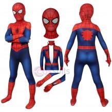Kids Ultimate Spider-Man Suit Peter Parker Cosplay Costume For Children Halloween