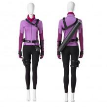 Young Avengers Hawkeye Kate Bishop Purple Cosplay Costume