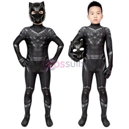 Black Panther Costume For Kids Captain America: Civil War T'Challa Cosplay Suits