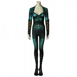 Movie Aquaman Queen Mera Jumpsuit Cosplay Costume