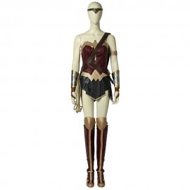 Wonder Woman Diana Prince Cosplay Costume with Boots