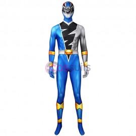 Blue Power Rangers Costume Kishiryu Sentai Ryusoulger Blue Solider Cosplay Suit
