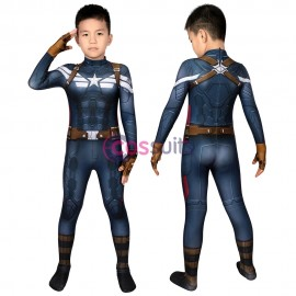 Captain America Kids Costume The Winter Soldier Steve Rogers Cosplay Birthday Gifts