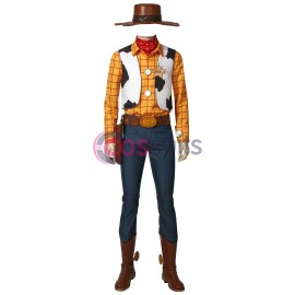 Disney Toy Story Sheriff Woody Cowboy Cosplay Suit