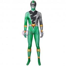 Green Power Rangers Costume Kishiryu Sentai Ryusoulger Green Solider Cosplay Suit