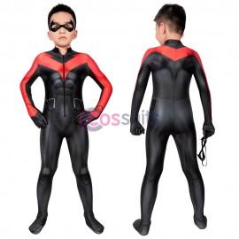 Kids Jumpsuit Teen Titans: The Judas Contract Nightwing Cosplay Halloween Costumes
