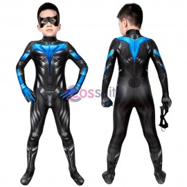 Kids Suit Titans season 2 Nightwing Jumpsuit Cosplay Costume Christmas Gifts