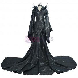 Maleficent Cosplay Costume Black Witch Angelina Jolie Suit