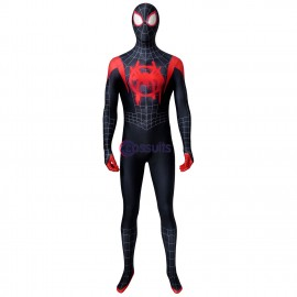 New Spiderman: Into The Spider-Verse Miles Morales Cosplay Jumpsuit