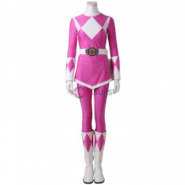 Pink Ranger Cosplay Costume Mighty Morphin Power Rangers Cosplay Suit