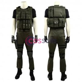 Resident Evil 3 Remake Carlos Oliveira Cosplay Costume For Men
