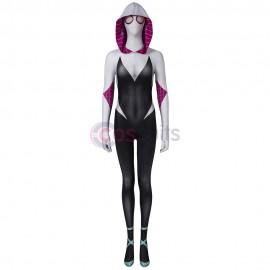 Spider-Gwen Costumes Spider-Man Into The Spider-Verse Cosplay Suit