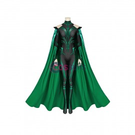 THOR 3 Ragnarok Trailer Hela Cosplay Jumpsuit With Cloak