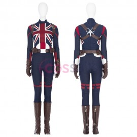 What If Captain Carter Costumes Peggy Carter Cosplay Suit