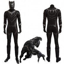 Black Panther Cosplay Costume Civil War T'Challa Cosplay Suit
