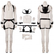 Black Widow 2020 White Costumes Natasha Romanoff Cosplay White Suits