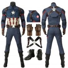 Captain America Steven Rogers Cosplay Costume Avengers Endgame Costume