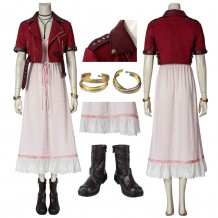Final Fantasy VII Aerith Gainsborough Cosplay Suit With Boots
