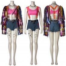 Harley Quinn Costume Birds of Prey Rainbow Cosplay Suit