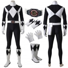 Mighty Morphin Power Rangers Zachary Taylor Black Ranger Cosplay Costume